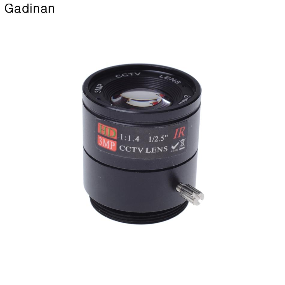 Gadinan IR 1/2.5 Inch 1080P F1.4 3MP 8mm Fixed CS Mount Mega Lens HD CCTV Lens For IP Camera 8mm 12mm 16mm cctv ir cs metal lens for cctv video cameras support cs mount 1 3 format f1 2 fixed iris manual focus