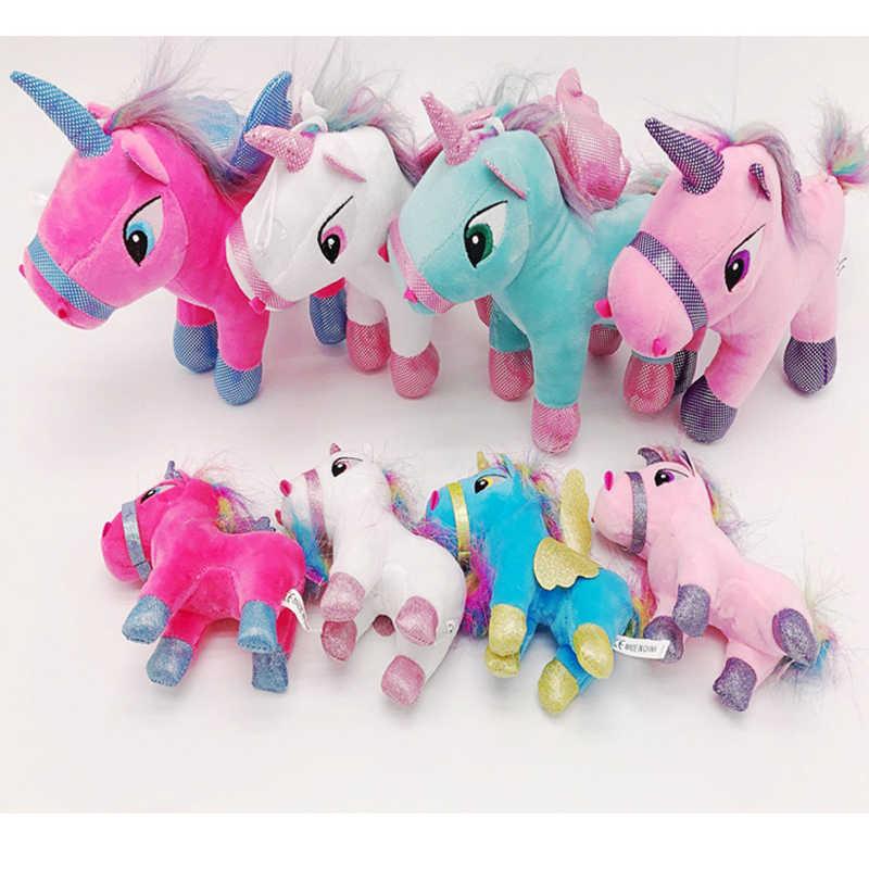 Новая плюшевая игрушка единорог мягкие Мультяшные игрушечные единороги 15 см 23 см Животные лошадь высокое качество подарок для детей мягкие игрушки