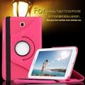Роскошный 360 Поворот Кожа PU 2 Складки Крышка Чехол для Samsung Galaxy Tab 3 7.0 T210 T211 P3200 P3210 7 дюймов Стойки Кожи Tablet PC