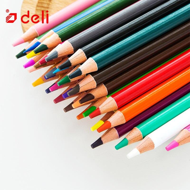 Ensemble de crayons de couleur Deli papeterie pour fournitures scolaires 72 crayon artiste peinture dessin Non toxique classique crayons de couleur à l'huile