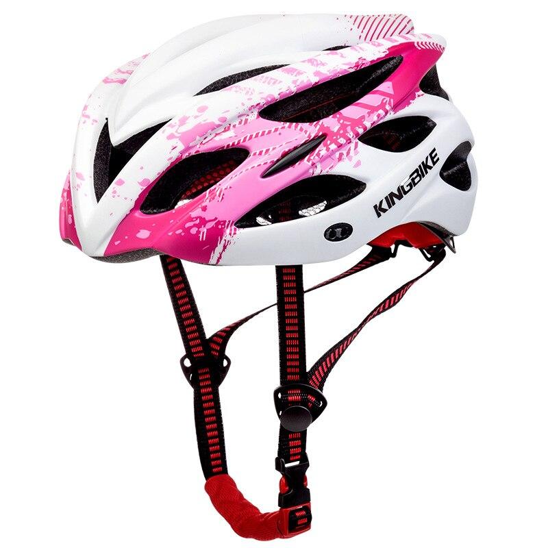 US $23 56 42% OFF|Pro Women's Cycling Helmet Shockproof 2018 Triathlon  Bicycle Helmet Road Mountain Bike MTB Helmets with Warning Light 56 60  cm-in