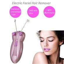 цена на 1Set Professional Electric Facial Hair Remover Female Body Face Cotton Thread Depilator Shaver Lady Beauty Care Machine