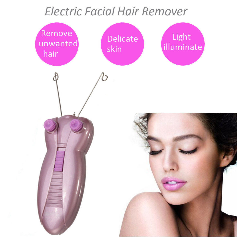 1Set Professional Electric Facial Hair Remover Female Body Face Cotton Thread Depilator Shaver Lady Beauty Care Machine image