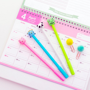 Image 2 - 40 pcs Cute inflatable animal neutral pen 0.5 black student neutral pen
