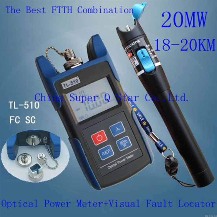Optical Power Meter (-50~+26)OPM Tester With FC SC ST Connector +20mW Red Laser Fiber Optic Cable Tester (Range: 18-20km) mt 7601 fiber optic power meter laser fiber optic tester optical fiber power meter automatic identification frequency