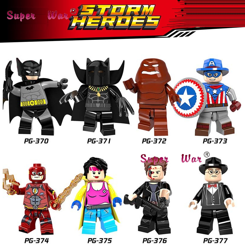 80pcs Super Hero Bane Figure Wolverine Deadpool Miss America Captain America Batman Model Building Blocks Baby Toys For Children A Great Variety Of Goods Blocks