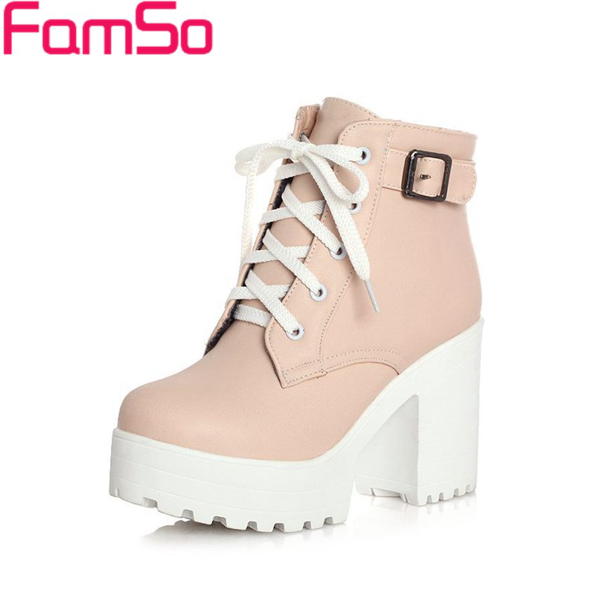 Free shipping 2016 New Sexy font b Women b font Boots Autumn platforms pumps Lady High