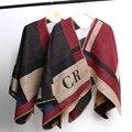Бренд женщин одеяло пончо Prorsum кашемир пончо шерстяной шарф элегантный манта лана инициалы оливия палермо плед шерсть зима шаль