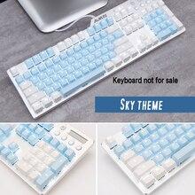 Top wydrukowano Cherry/SKY Theme 104 kluczowe klawisze klawisze czapki zestaw do klawiatury mechanicznej mechaniczna klawiatura gamingowa MX Keycaps