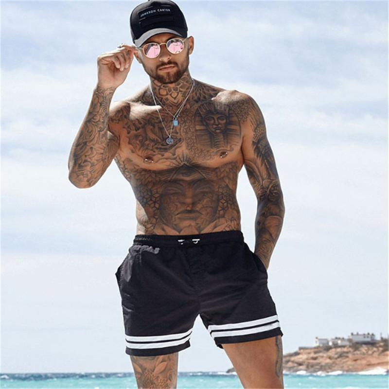 LISER 2019 Men Casual Shorts New Gyms Fitness Bodybuilding Shorts Mens Summer Casual Cool Short Pants Male Jogger Workout Beach