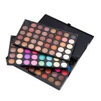 Popfeel 120 Colors Shimmer Matte Eye Shadow Powder Makeup Palette Không Thấm Nước Tự Nhiên Mỹ Phẩm Trang Điểm Công C
