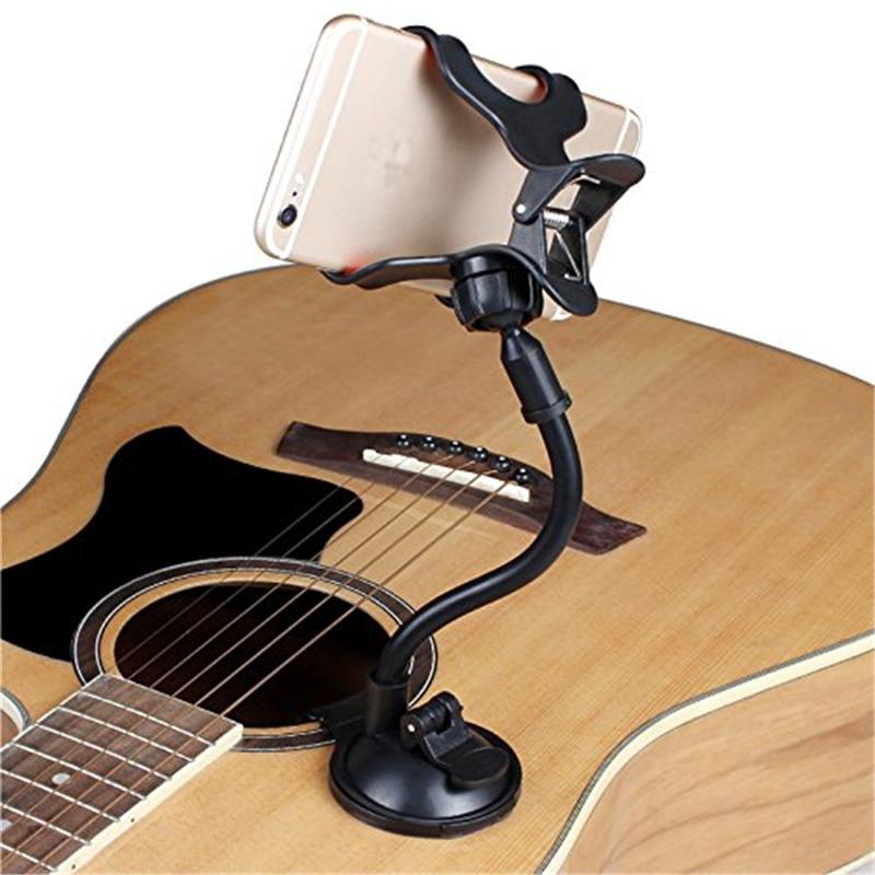 Phone Holder Stand for Guitar Street Singing lyrics Song Sucker Suction Cups Musicians Guitar Stand Mobile Car Support Holder Сотовый телефон