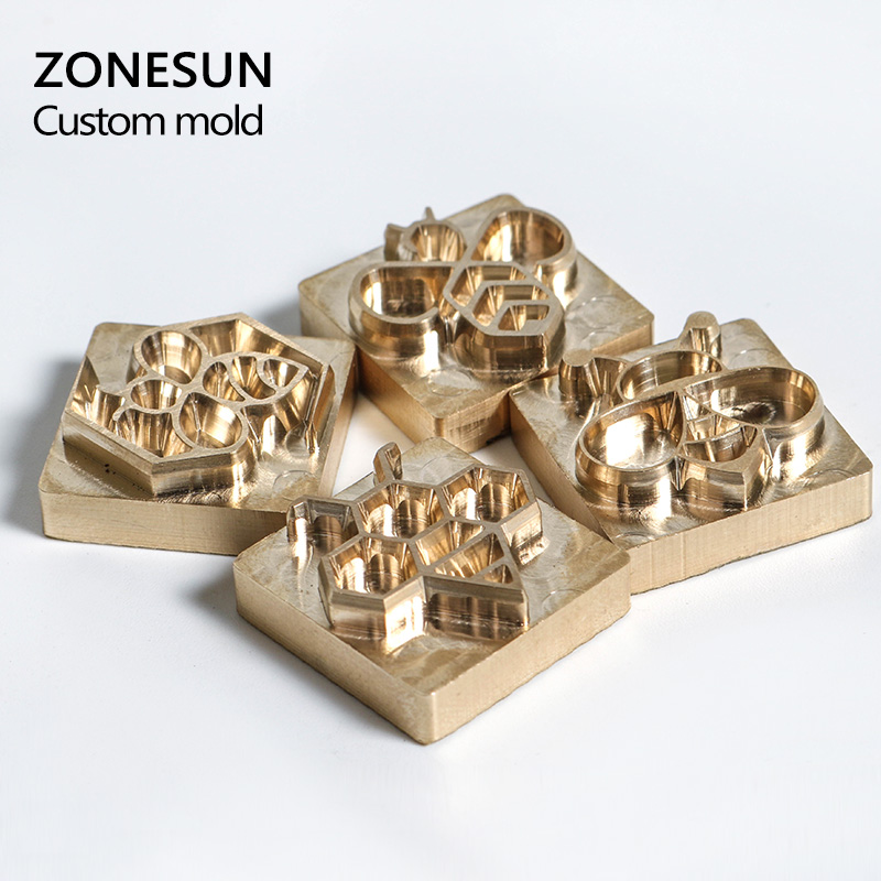 ZONESUN Customize league DIY Logo gift Hot Bee Brass Personalized Mold heating on wood leather zonesun hot foil stamping brass mold wood leather paper customized embossing mold diy design bread die iron heating emboss mould