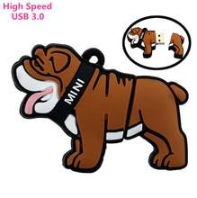 Cartoon Brown Bulldog model usb flash drive 64gb usb 3.0 mini pen drive 32gb u disk pendriver flash memory usb stick 16gb 8gb
