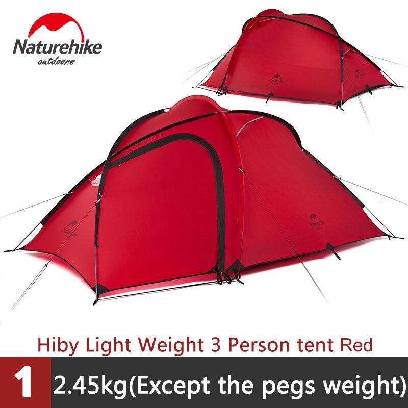Naturehike Extérieur 2-3 personne Imperméable Double couche Tente Avec Un Salon NH17K230-N