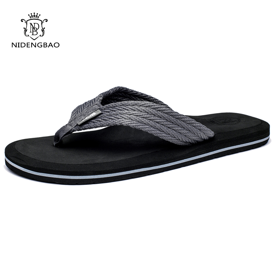 Beach-Sandals-Shoes Flip-Flops Male Slippers Comfortable Plus-Size Summer Men High-Quality title=
