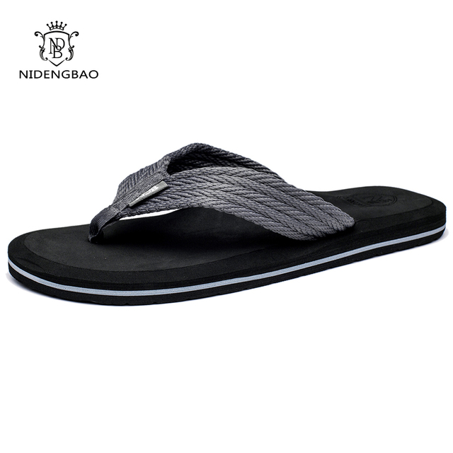 f8d462c5efc2a Summer Men Flip Flops High Quality Comfortable Beach Sandals Shoes for Men  Male Slippers Plus Size 47 Casual Shoes Free shipping
