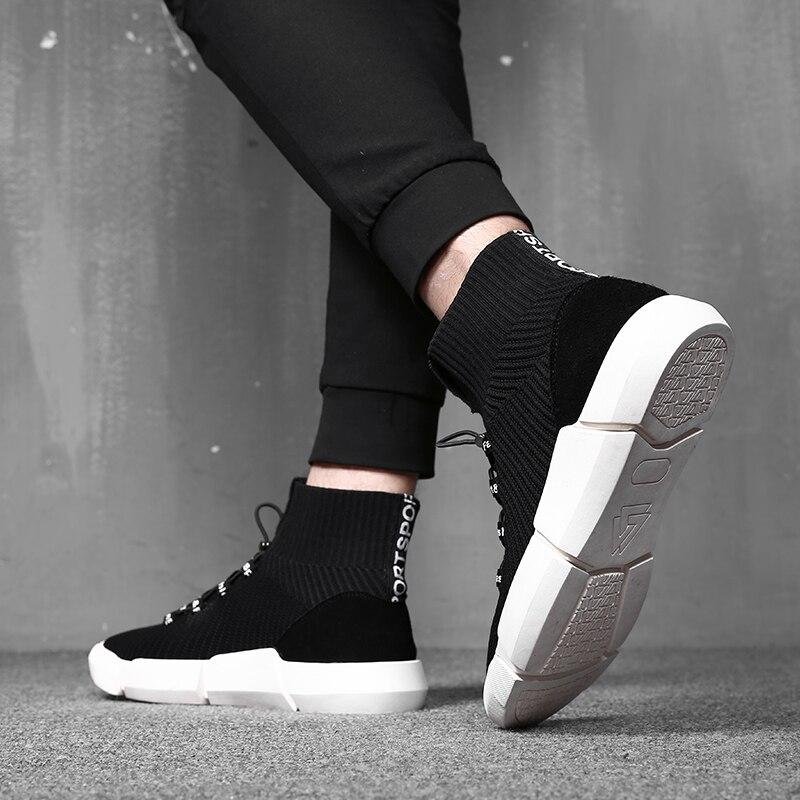 Nova Casuais Inferior Marca Ar top Calçados Mycoron Luxo Alta Chegada Tecido De Malha Masculinos Respirável Confortáveis Sapatos Plataforma Preto Moda ITqF7