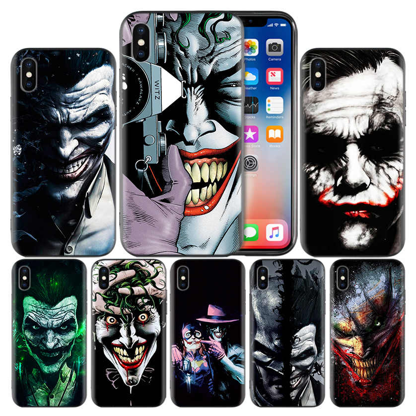 Dc Batman Dark Knight Joker Karta Fundas Caso Fosco Para Apple iPhone 7 8 6 6 S Plus X XS MAX XR 5 5S 5C SE 10 Dez Proteger Cobertura