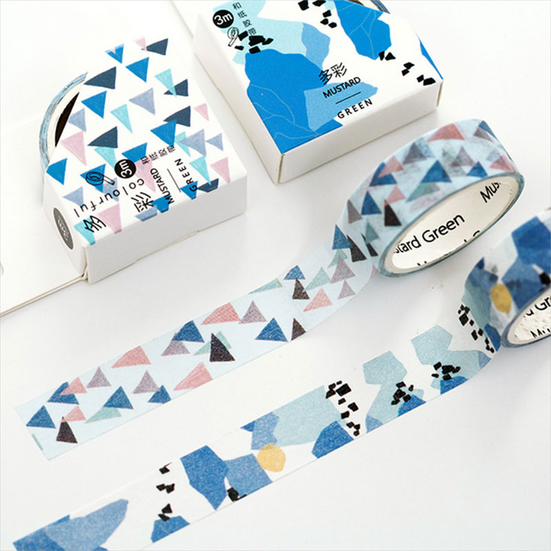 2pcs/lot 15mm*3m colorful washi tape DIY decoration tape scrapbooking planner masking tape kawaii label stationery Free Shipping