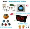 Беспроводной сервис пейджер система топ продаж 433 92 МГц клиника отель популярный звонок Кнопка набор (1 дисплей + 2 часы + 28 кнопка вызова)