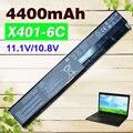 6 células bateria do portátil para asus f401 f501 f301 s401 s501 s301 x401 a41-x401 a31-a32-x401 x401 a41-a42-x401 x301 x501 x501a