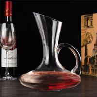 1500ml Unique Elegant Crystal Glass Wine Decanter Red Wine Carafe Aerator With Handle Container Dispenser Wine