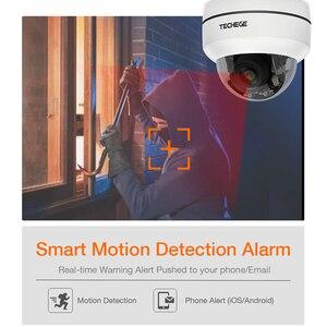 Image 5 - تيشيج HD 2MP PTZ IP CCTV كاميرا الأمن POE 48 فولت عموم صغير/إمالة/التكبير 4X زووم بصري سرعة قبة كاميرا متحركة Onvif RTSP