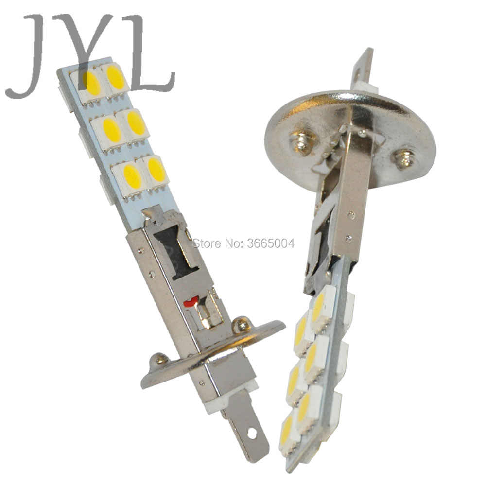 JYL 2pcs H1 led 12smd Ultra Bright 5050 12V White For Fog Light Headlamp Car Accessories
