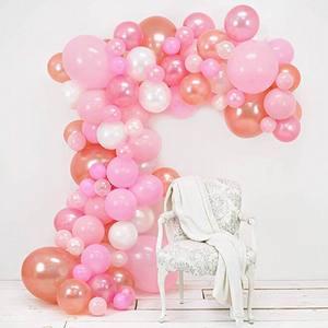 Image 2 - 98 ピース/セットピンクバルーンアーチキットカラフルなラテックスバルーン花輪ウェディングパーティーバルーンベビーシャワー用品の背景の装飾