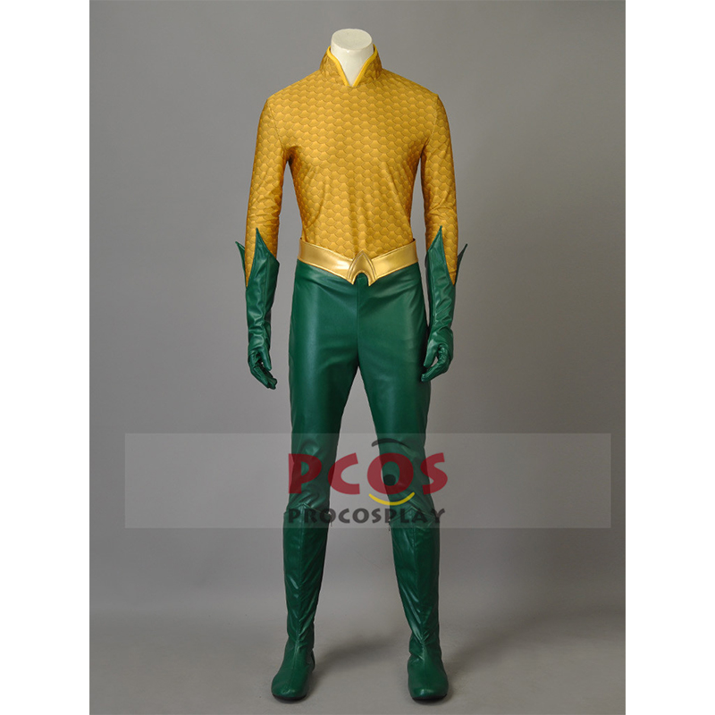 Justice League Aquaman Orin / Arthur Curry Cosplay Costume & Boots mp003442