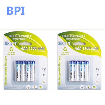 цена на 100% genuine authentic card installed BPI special times BPI AAA NiMH rechargeable battery 1100mAh
