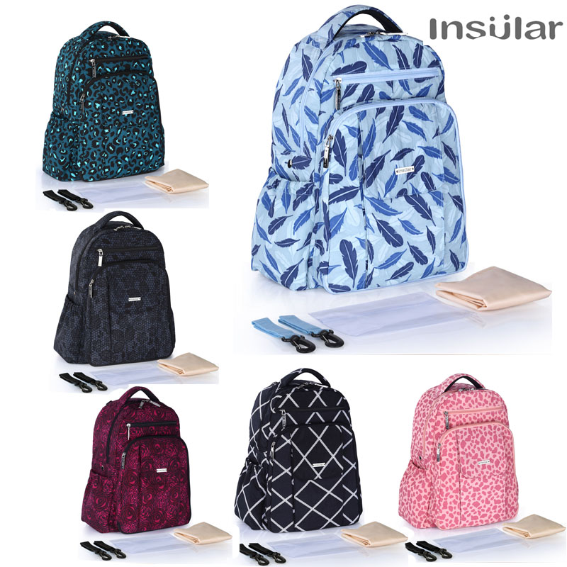 Insular Diaper Bag For Stroller Fashion Mummy Maternity Nappy Bag For Mom Baby Travel Backpack Organizer Nursing Bag for Baby baby diaper bag backpack maternity nursing bag for stroller nappy changing bag baby care organizer for mom travel backpack d3