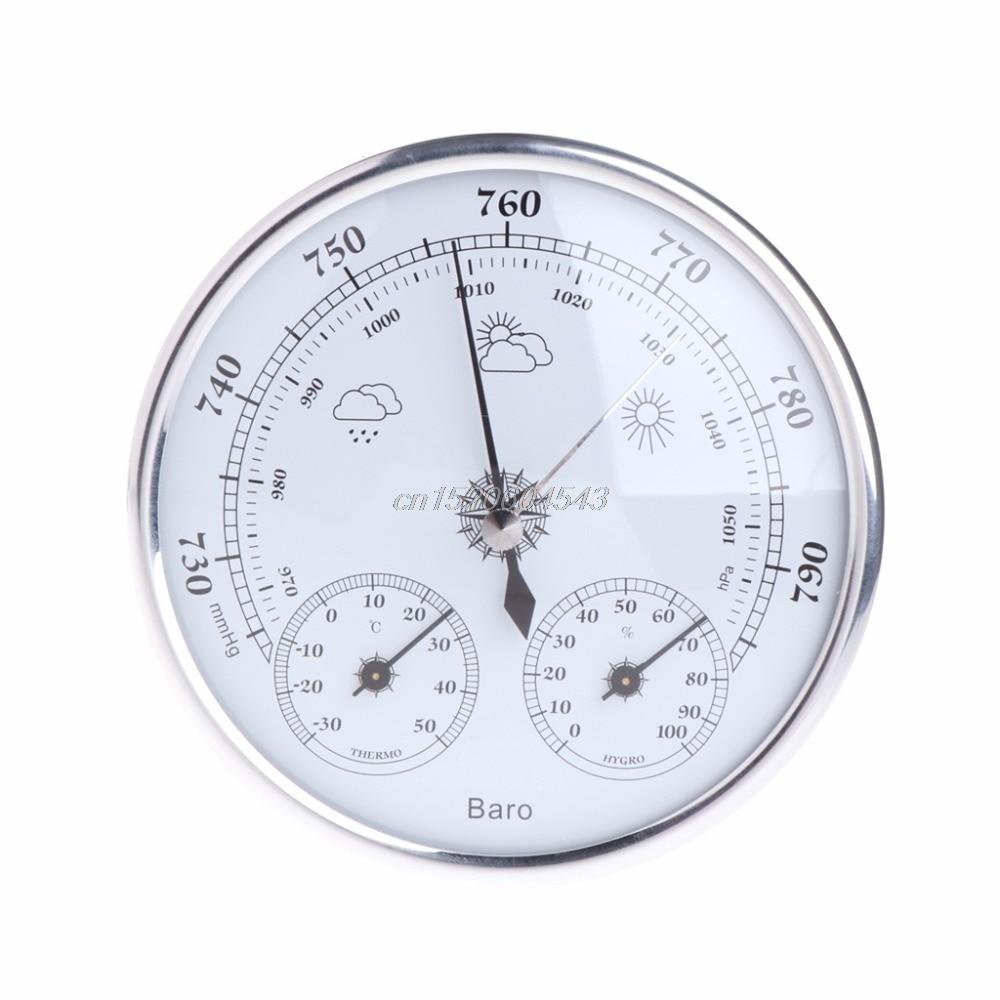 Hogar estación meteorológica barómetro termómetro higrómetro pared probador herramientas R08 nave de la gota