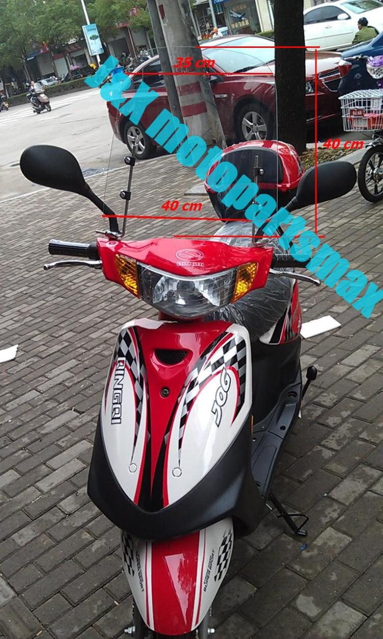 Free Shippint Windscreens Motorcycle Windshield Gy6 Scooter Moped Nmax 40cm Sporty Minibike Cycle Bike Universal In Wind Deflectors From