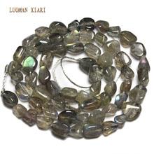 Wholesale Irregular Shape 4-6 mm Labradorite Grey Moonstone  Natural Stone Beads For Jewelry Making DIY Bracelet Necklace 15''