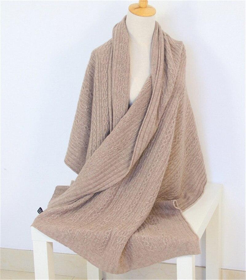 Super fine 100% cachemire fil tricot femmes mode épais lourd écharpes châle pashmina 70x210cm gris 3 couleur