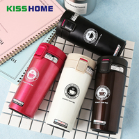 380ML Stainless Steel Coffee Thermos Cup Set Double Anti hot Insulation Cups Creative Square Tea Beer Cup and Saucer Milk Mug