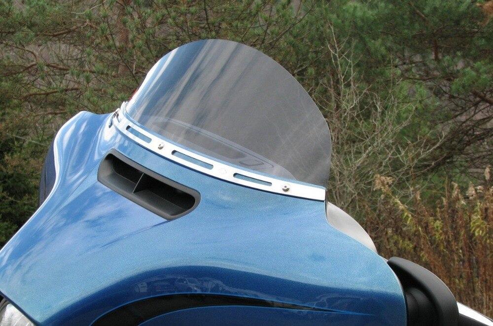 Accesorios de la motocicleta Chrome Batwing Justo Parabrisas Parabrisas Recortar