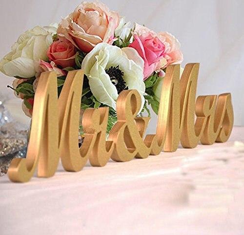 Mr & Mrs Gouden Letters Voor Bruiloft Decoratie Aanwezig, Tafel Top 3 Stks/partij Gratis Verzendmethode