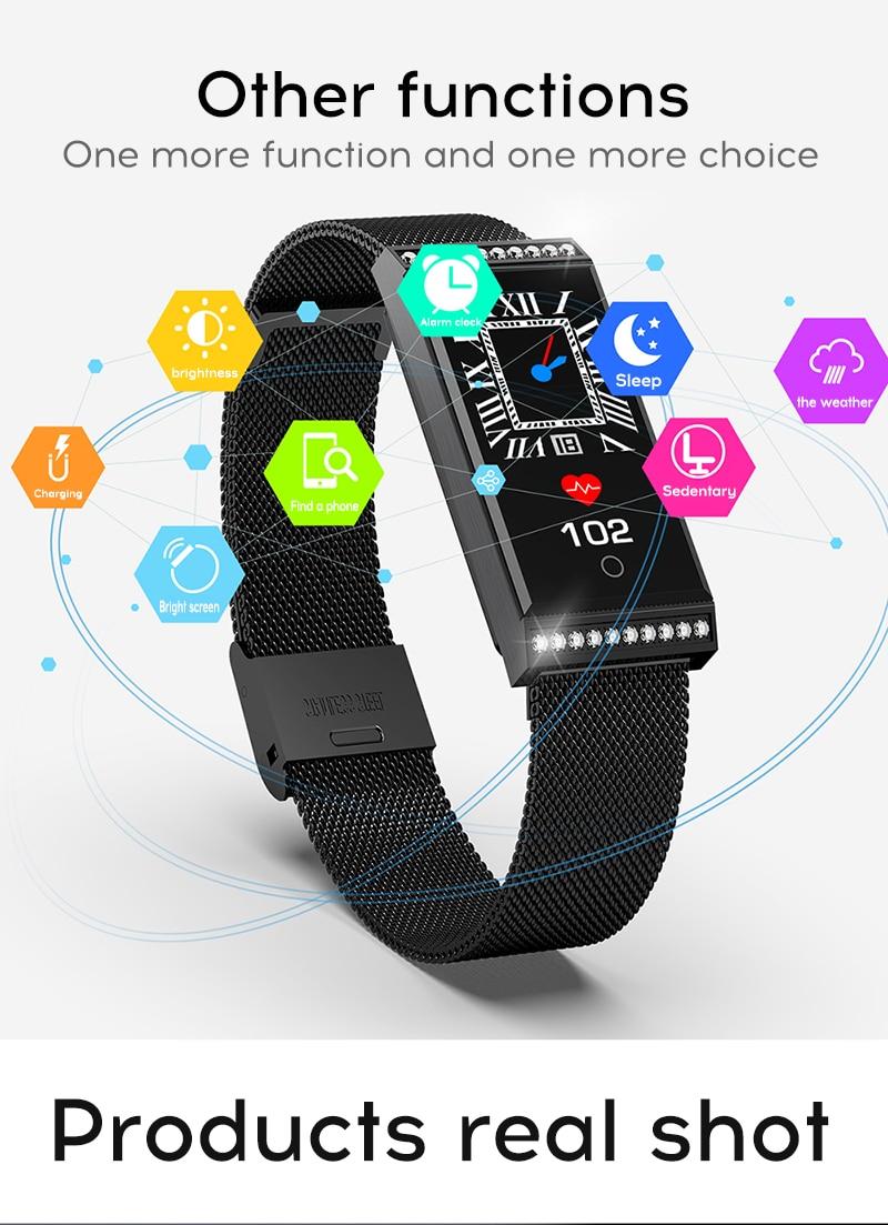 MAFAM Smart Bracelet Women Watch Waterproof Fitness Tracker Heart Rate Blood Pressure Sports Smart Band Notification Reminder (17)