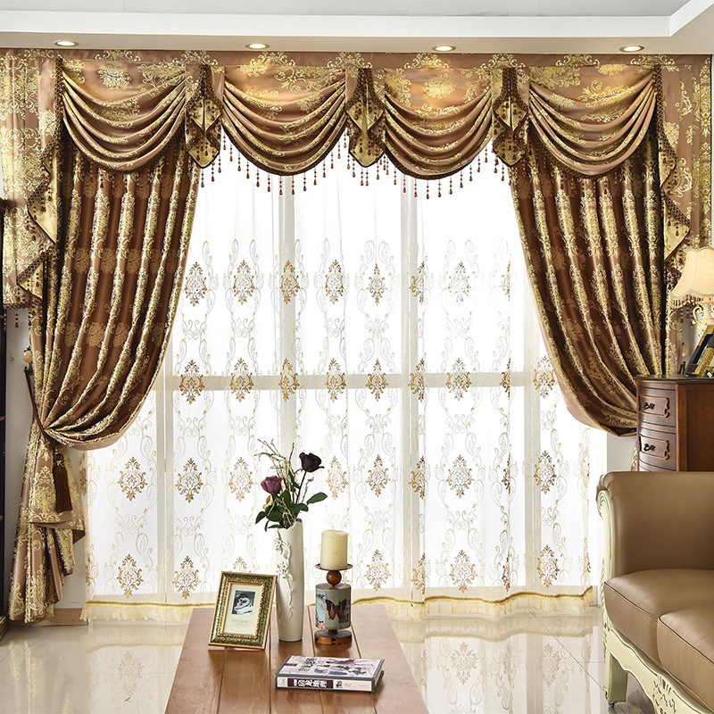Bedroom Window Curtains For Living Dining Room High Grade Contracted Europe Type Shade Valance Custom Wave Golden Customization Curtains Aliexpress