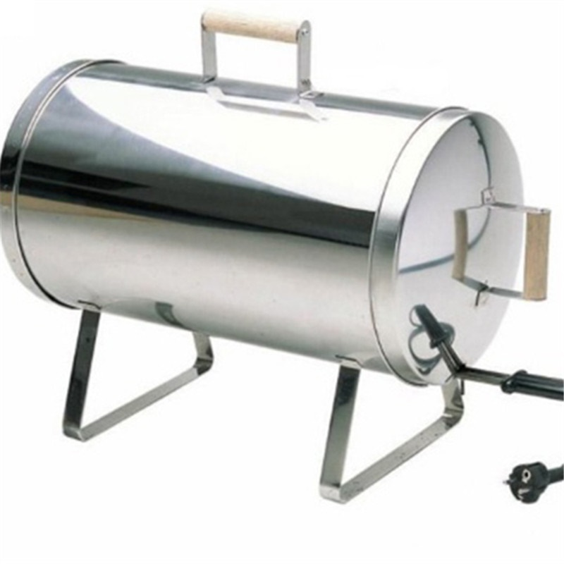 ФОТО Best selling Portable Electric Smoker Outdoor use Stainless Steel Barbeque BBQ Grills Pipe/Cylinder Hot smoking of Salmon,Meat