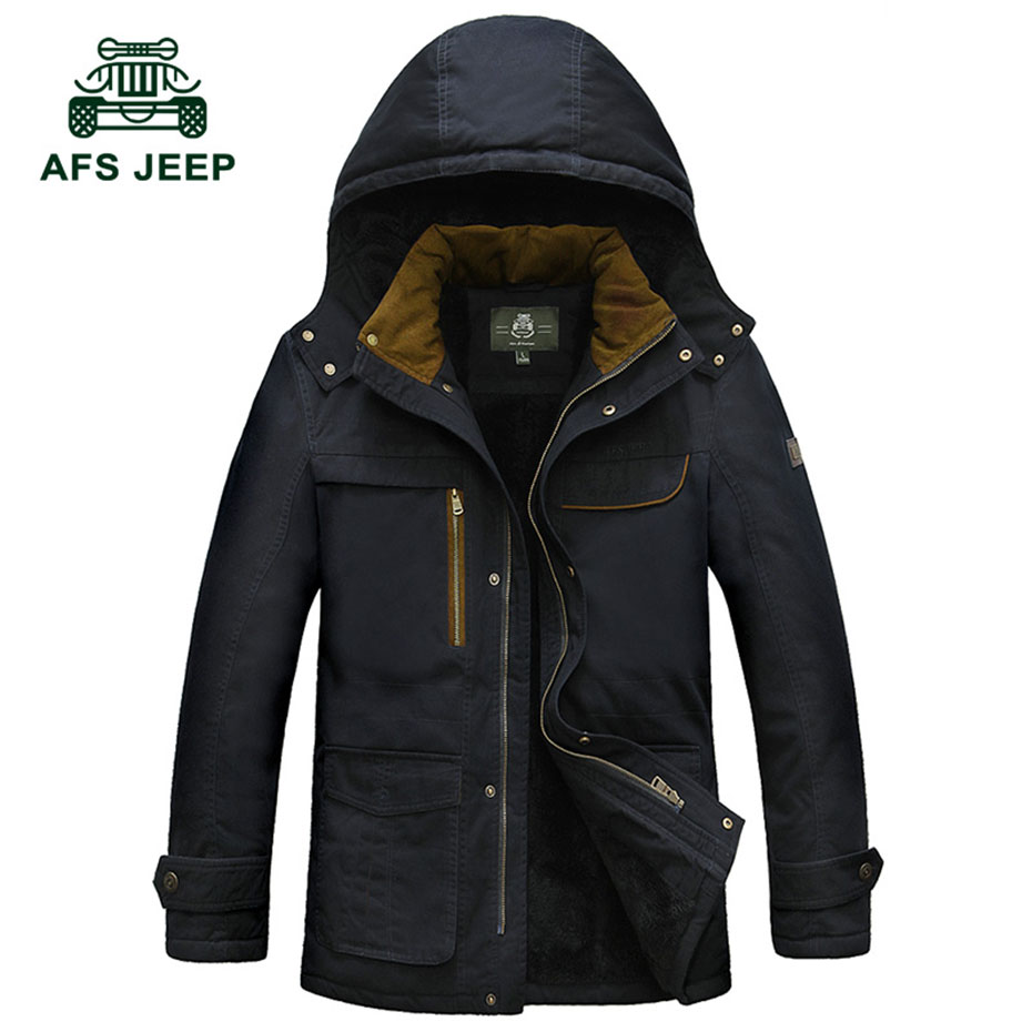 2016 New Winter Brand Clothing Down Jacket Men Casual Fleece Velet Pocket Hooded Collar Man Cotton
