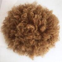 Eversilky полностью тонкая кожа афро парик черные волосы необработанные бразильские человеческие волосы афро, привлекательный локон полный по
