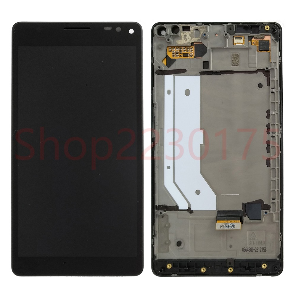 For Nokia <font><b>Lumia</b></font> <font><b>950</b></font> XL RM-1116 LCD Display Touch Screen Digitizer Assembly Frame Replacement <font><b>Parts</b></font> image