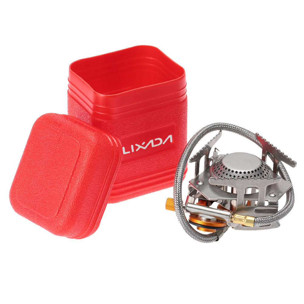 Lixada Camping Gas Stove Outdoor Cooking Portable Foldable Split ...