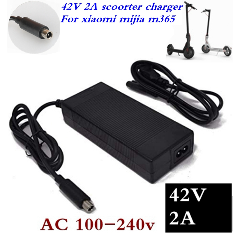 1PCS Electric Scooter Charger 42V 2A Adapter for Xiaomi Mijia M365 Ninebot Es1 Es2 Electric Scooter Accessories Battery Charger1PCS Electric Scooter Charger 42V 2A Adapter for Xiaomi Mijia M365 Ninebot Es1 Es2 Electric Scooter Accessories Battery Charger