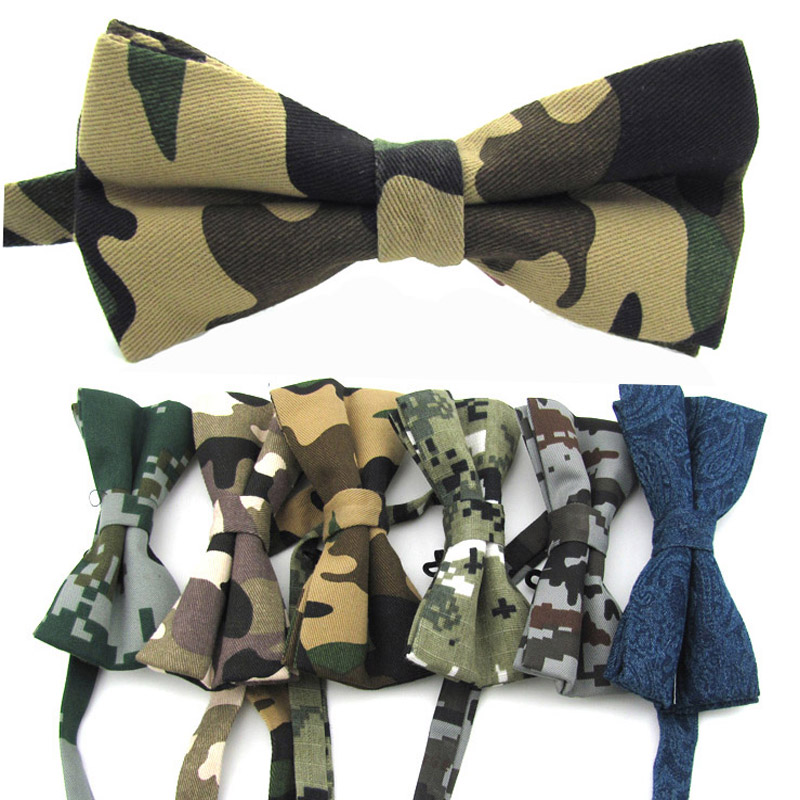 KR990 Adjustable Men's Cotton Bow Tie Man Bows Ties Camouflage Tuxedo Party Wedding Butterfly Drop Shipping Birthday Necktie