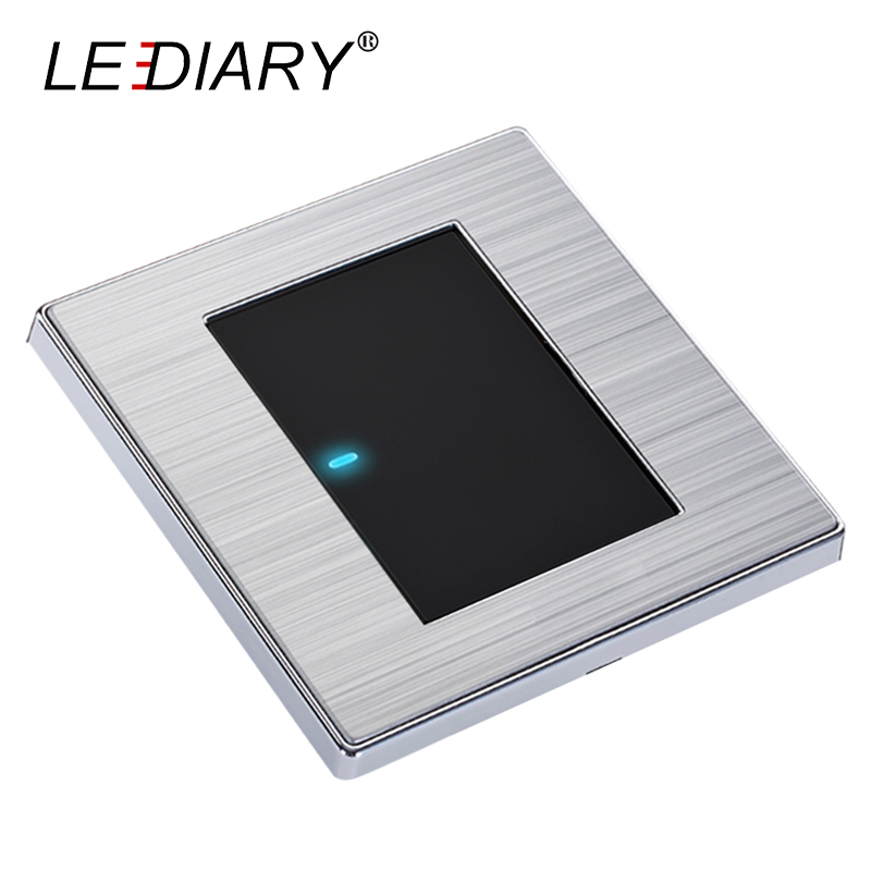 LEDIARY LED Lighting Switch Stainless Steel 1-Gang/2-Gang/3-Gang/4-Gang and 1-Way/2-Way Push Button Wall Switches 50V-440V krst luxury led lighting switch 2 gang 1 way 2 ways n ways push button wall switches ac 250v 10a 86x86mm popular